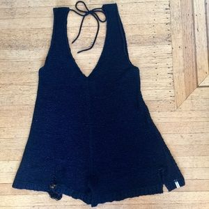 ONE TEASPOON DISTRESSED KNIT ROMPER PLAYSUIT